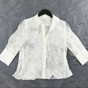 Equipment Femme White Floral Blouse